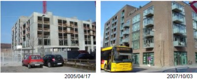 左:2005年4月17日、右:2007年10月3日